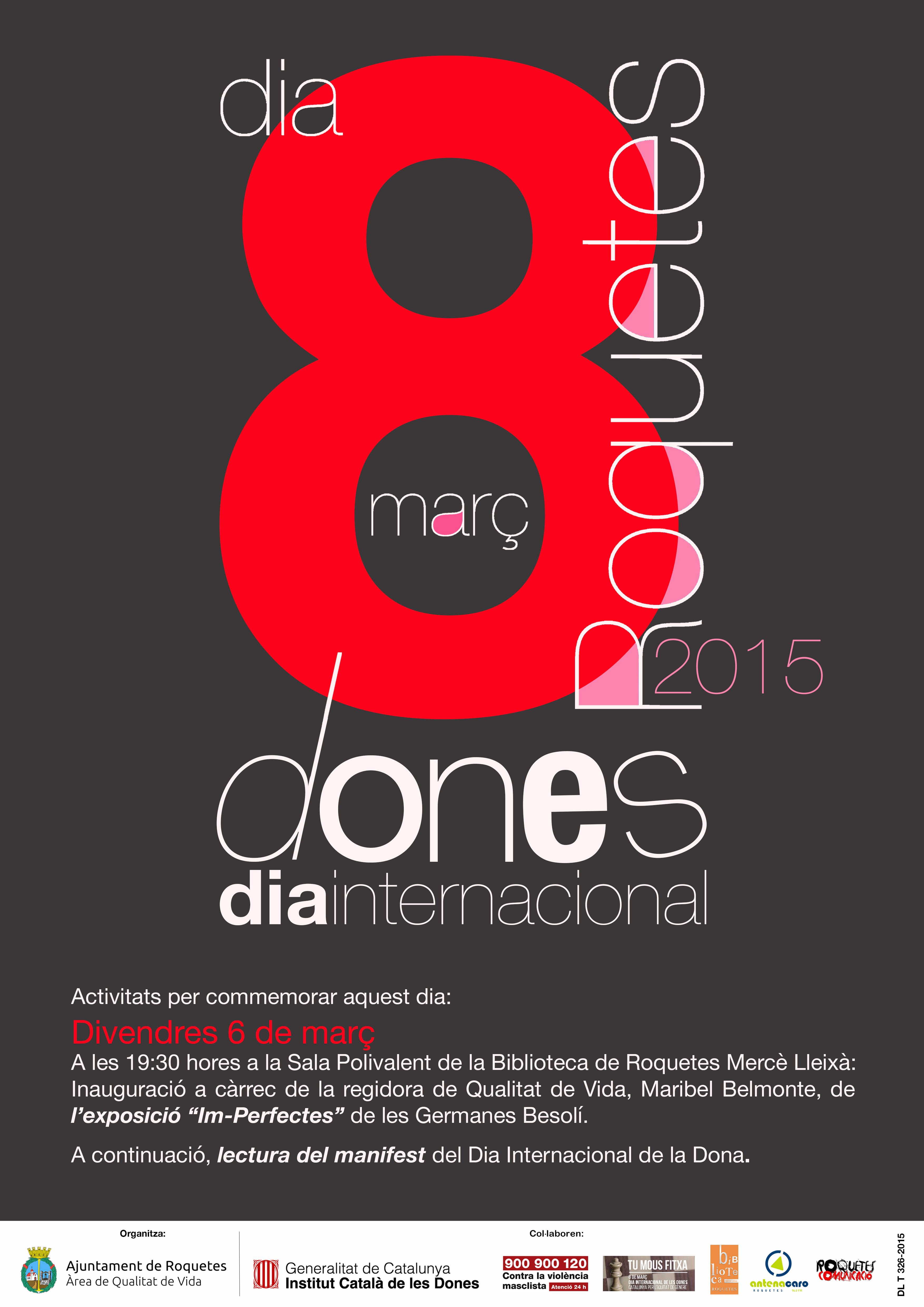 Cartell dia Internacional de les dones 2015